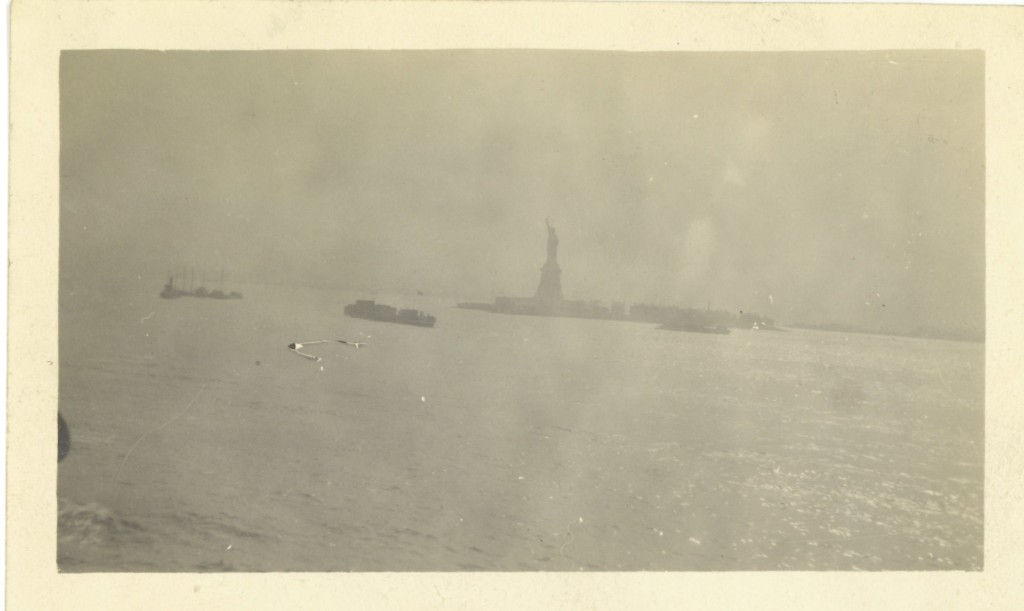 1. Statue of Liberty taken from Poquebot Espagne June 9, 1917
