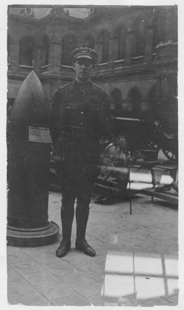 17. A very poor likeness of one WF True in company of a German 420 shell. This will give you some idea of the size of projectiles used