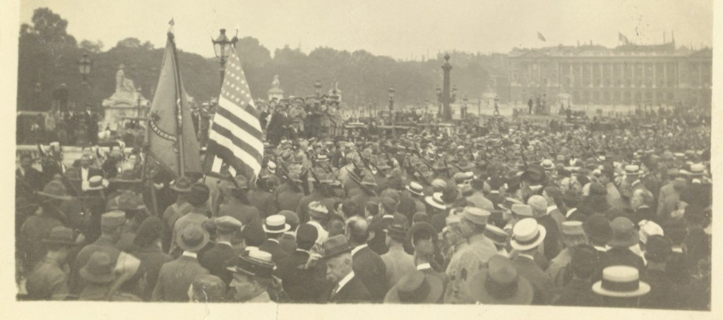 24. America's First Expeditionary Force, 16th Regiment U.S. regulars marching thru La Place de la Concorde on July 4, 1917