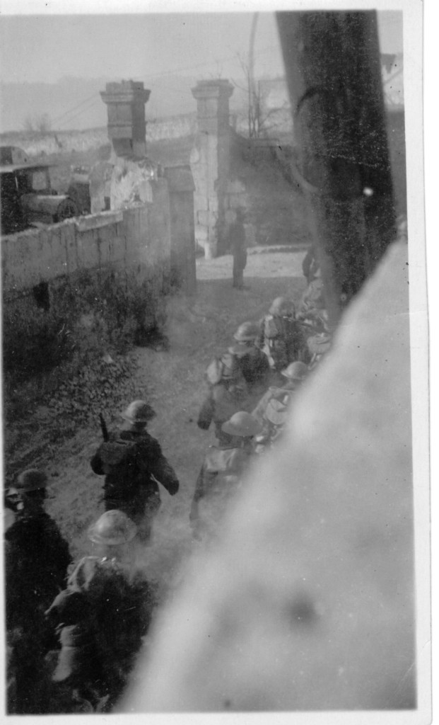 47. Juvigny, February 14, 1918, Infantry of 26th U.S. Division passing thru