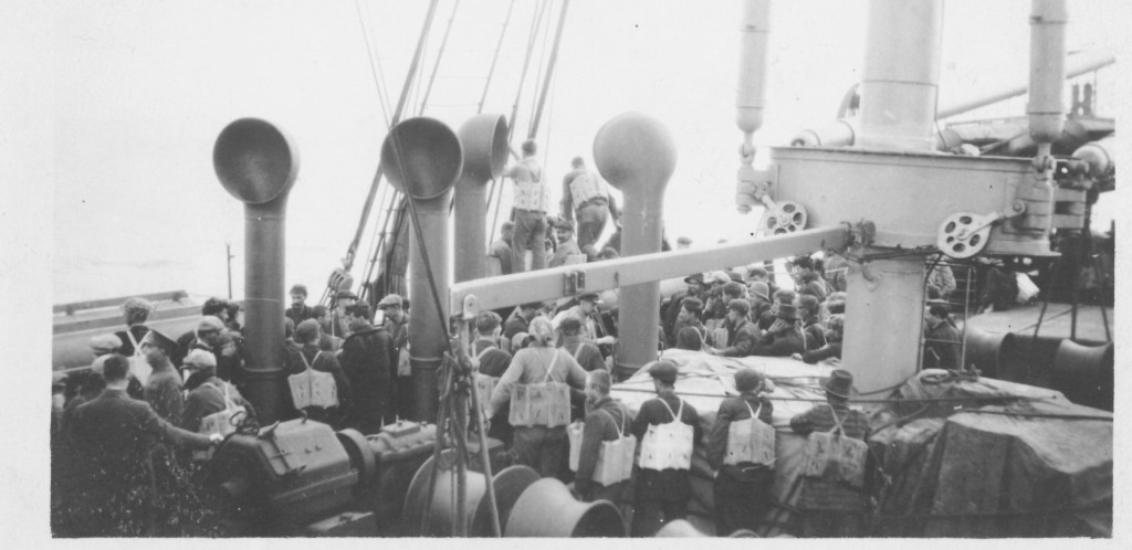 5. Poquebot Espagne. View of Steerage deck during Submarine attack on June 16, 1917